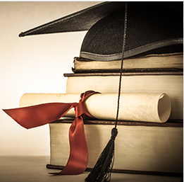 Lawyers Degree With Graduation Hat